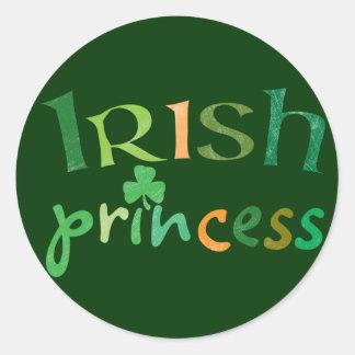 Irish Princess Round Sticker