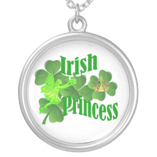 Irish princess silver plated necklace