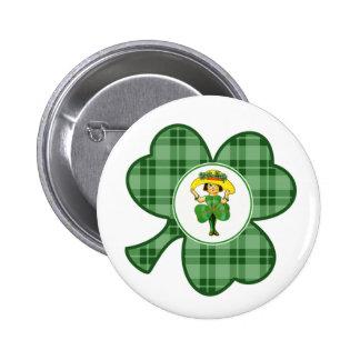 Irish Princess. St. Patrick's Day Gift Buttons