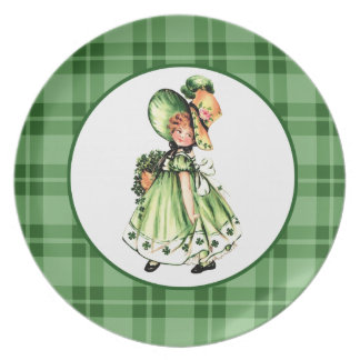 Irish Princess. St Patrick's Day Gift Plate