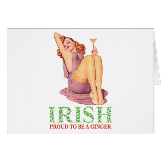 Irish - Proud to Be a Ginger! Card