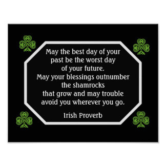 Irish Proverb -Best Day -- Art Print