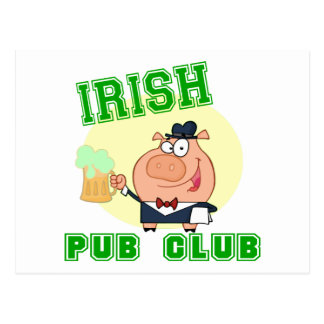 Irish Pub Club Postcard