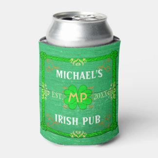 Irish Pub Custom Name Home Bar Green St Patrick's Can Cooler