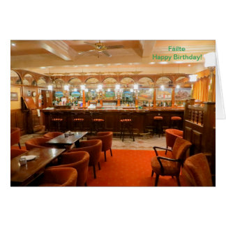 Irish Pub image for Birthday greeting card