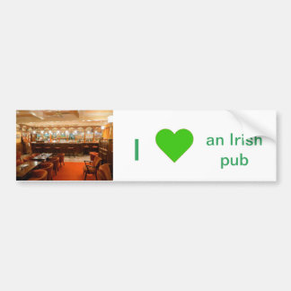 Irish Pub image for Bumper Sticker
