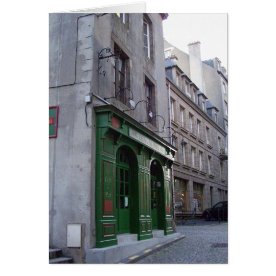 Irish Pub in St. Malo, France Card