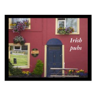 Irish pubs postcard