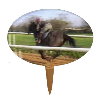 Irish Racehorse/Jockey Cake Topper