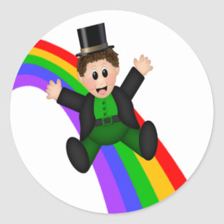Irish Rainbow Round Sticker
