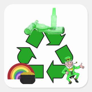 Irish recycling square sticker