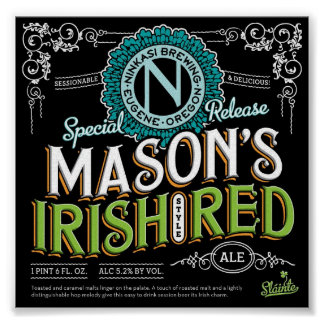 Irish Red Ale Poster