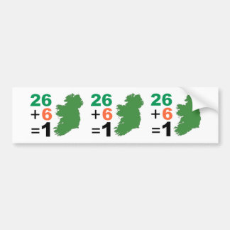 Irish Republic 26+6=1 Bumper Sticker