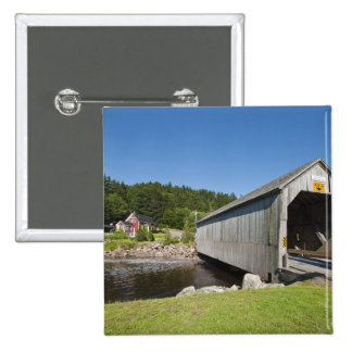 Irish River covered bridge St Martins New Button