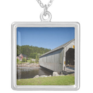 Irish River covered bridge, St. Martins, New Silver Plated Necklace