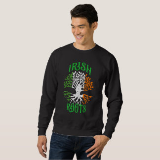 Irish Roots Heritage Tree Flag of Ireland Sweatshirt