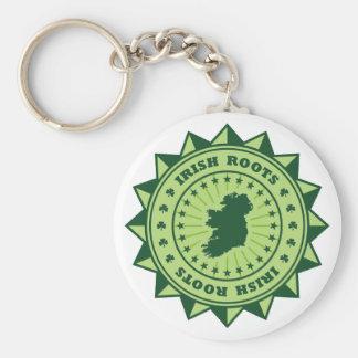 Irish Roots Map Basic Round Button Key Ring