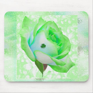 Irish rose and shamrock! mouse pad