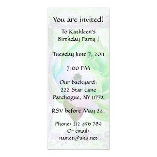 Irish Rose Birthday Party! 10 Cm X 24 Cm Invitation Card