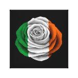 Irish Rose Flag on Black