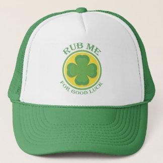 Irish Rub me for Good Luck Clover Trucker Hat