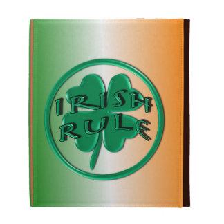 Irish Rule - Ireland Colors and Shamrock iPad Folio Cover