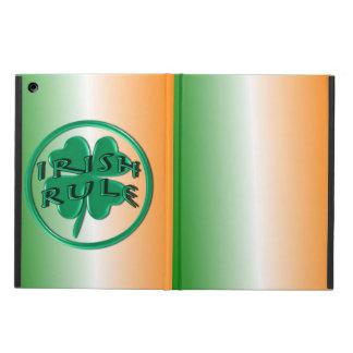 Irish Rule - Ireland Colors and Shamrock iPad Air Cases