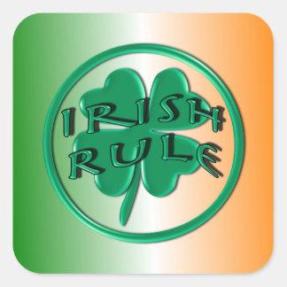 Irish Rule - Ireland Colors and Shamrock Sticker