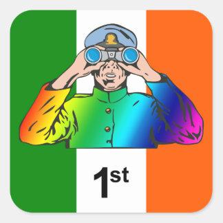 Irish Sailor Square Sticker