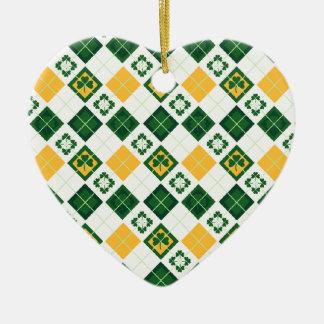 Irish Saint Patrick's Day pattern Ornaments