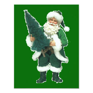 Irish Santa 11 Cm X 14 Cm Invitation Card