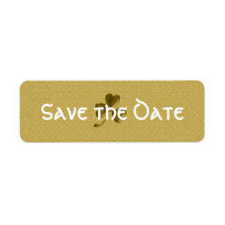 Irish Save the Date Return Address Label