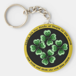 Irish Saying Basic Round Button Key Ring