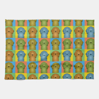 Irish Setter Dog Cartoon Pop-Art Tea Towel