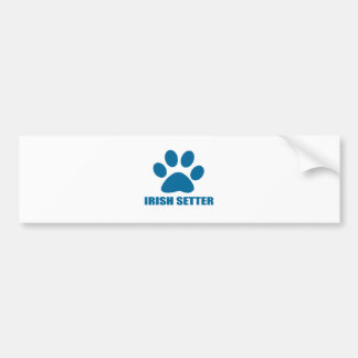 IRISH SETTER DOG DESIGNS BUMPER STICKER