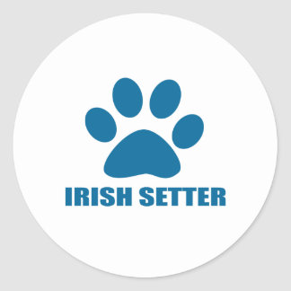 IRISH SETTER DOG DESIGNS CLASSIC ROUND STICKER