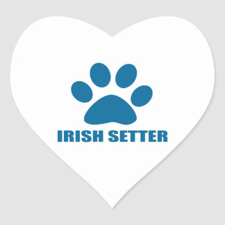IRISH SETTER DOG DESIGNS HEART STICKER