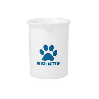 IRISH SETTER DOG DESIGNS PITCHER