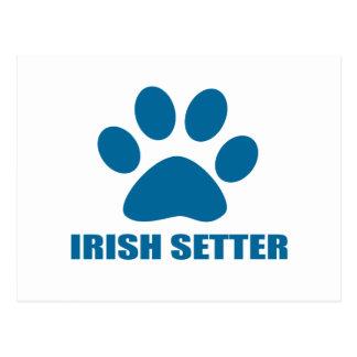 IRISH SETTER DOG DESIGNS POSTCARD