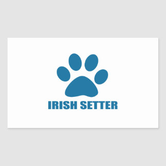 IRISH SETTER DOG DESIGNS RECTANGULAR STICKER