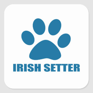 IRISH SETTER DOG DESIGNS SQUARE STICKER