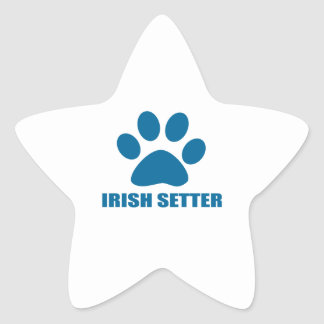 IRISH SETTER DOG DESIGNS STAR STICKER