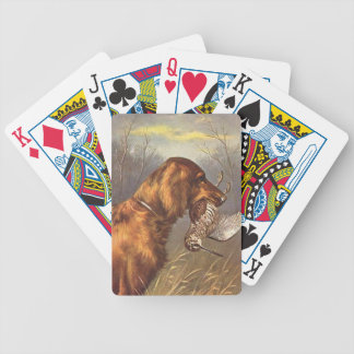 Irish Setter Dog Playing Cards