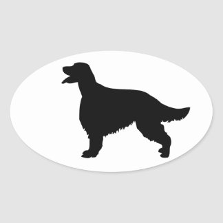 Irish Setter dog silhouette sticker, gift idea Oval Sticker