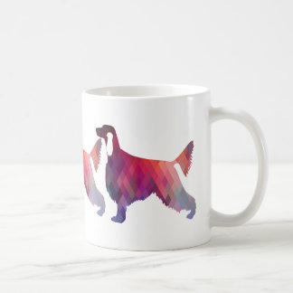 Irish Setter Geometric Pattern Black Silhouette Coffee Mug