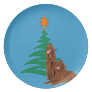 Irish Setter Holiday Plate