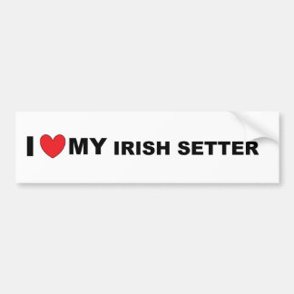irish setter love bumper sticker