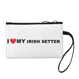 irish setter love coin purse
