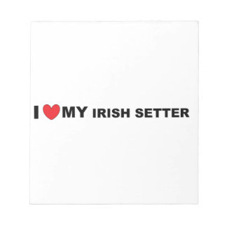 irish setter love notepad