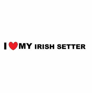 irish setter love photo sculpture key ring